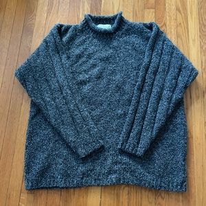Quill's merino wool cashmere rolled collar sweater